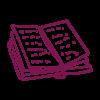 deep purple open book icon