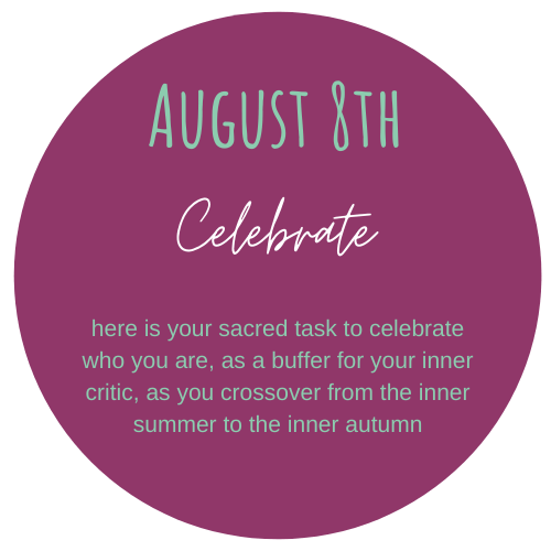 August theme of the Coven is Celebrate. We are celebrating ourselves as a buffer for our inner critic